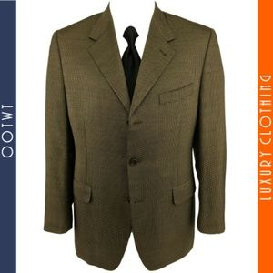 CANALI 40R Gold Beige 55% Silk 45% Wool Sport Coat